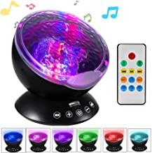 Ocean Wave Projector Night Light Projector LBell Sleep Sound Machine with Remote Music Player Timer Room Decor for Infant ...