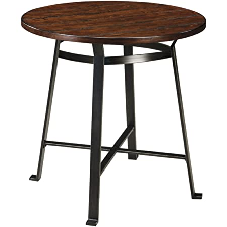 Signature Design By Ashley Challiman Dining Room Bar Height Table Rustic Brown Tables