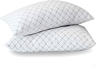 Allo Memory Foam Pillow Queen Size, Bed Pillows for Sleeping with Adjustable Loft Design, Cooling Bamboo Pillows with Washable Breathable Zip Cover Hypoallergenic Cross-Cut Memory Foam Fill - 2 Pack