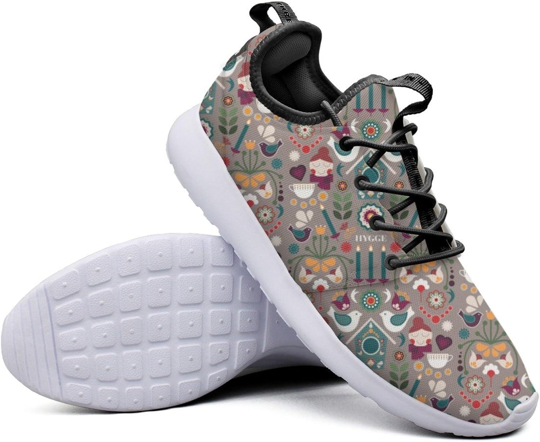 Fashion Sneakers shoes For Women Scandi Folk Art Winter Cozy Retro Lightweight Breathable Mesh Womens Basketball Sneakers