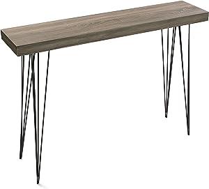 Versa 20360009 Tavolo d'entrata Quercia Dallas, 80x25x110 cm, Legno, Scassetiera