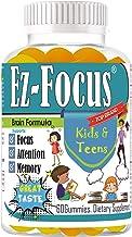 Ez Focus Gummies for Kids Brain Focus Chewable Focus Kids Vitamins Attention Supplement for Kids, Children and Teens Great...