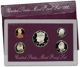 1991 S US Mint 5-Piece Proof Set Orig Box/COA DCAM