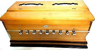 Harmonium 9 przystanków, 3 1/2 okawy, podwójna trzcina, sprzęgło, naturalny kolor, standard, buk, wyściełana torba, A440 t...