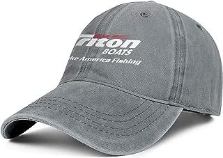Vintage Washed Cap Triton-Boats-we-Logo- Pattern Unisex Dad Adjustable Hat