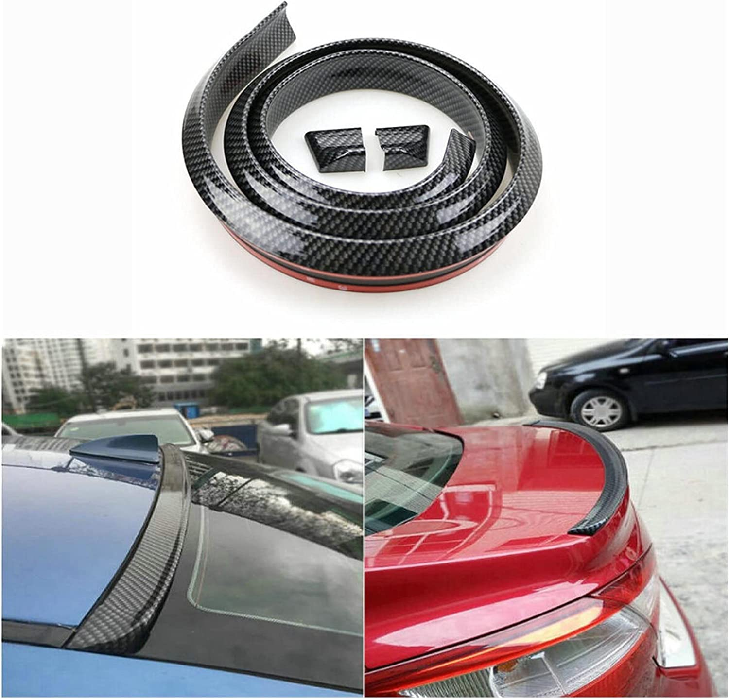 Classic MINGMING Lming Store Imitation Carbon Excellence Car Spoile Rear Roof Fiber