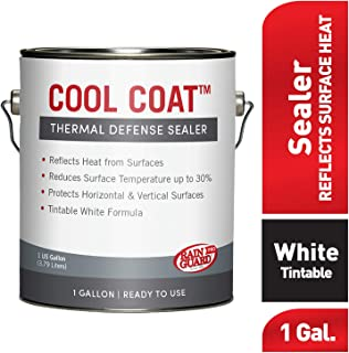 Rain Guard Water Sealers SP-2001 Cool Coat White Thermal Barrier Ready to USE on Exterior Surfaces Covers up to 200 Sq. Ft. 1 Gallon