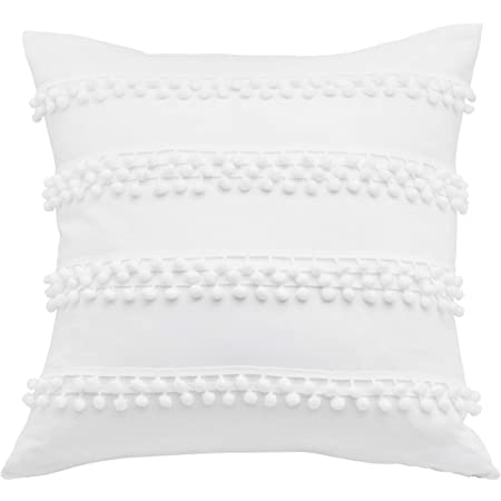Amazon Com Madison Park Quebec Quilted Throw Pillow Transitional Square Decorative Pillow 20x20 Set Of 2 White Home Kitchen