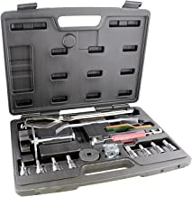 ABN Brake Tools 15-Piece Brake Kit with Brake Caliper Tool, Brake Drum Puller, Brake Adjusting Tool – Brake Tool Set