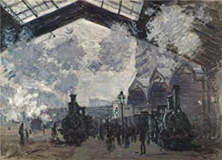 Oil Painting 'Claude Oscar Monet The Gare St Lazare ' Printing On Polyster Canvas , 30 X 42 Inch / 76 X 106 Cm ,the Best Bar Artwork And Home Gallery Art And Gifts Is This Vivid Art Decorative Canvas Prints