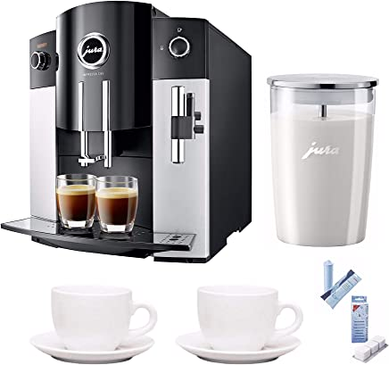 Jura 15068 IMPRESSA C65 Automatic Coffee Machine, Platinum Includes Jura Milk Container, Care Cartridge