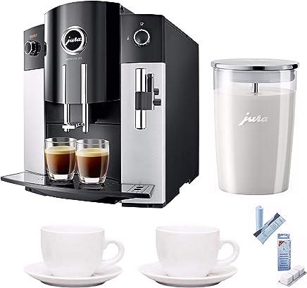Jura 15068 IMPRESSA C65 Automatic Coffee Machine, Platinum Includes Jura Milk Container, Care Cartridge