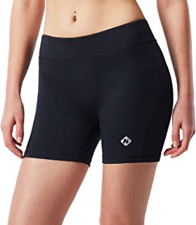"Naviskin Women's 4"" Active Volleyball Shorts Training Workout Tights Compression Shorts"