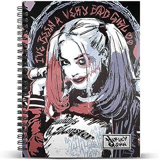 Harley Quinn Crazy-Cuaderno Papel Cuadriculado DIN A4