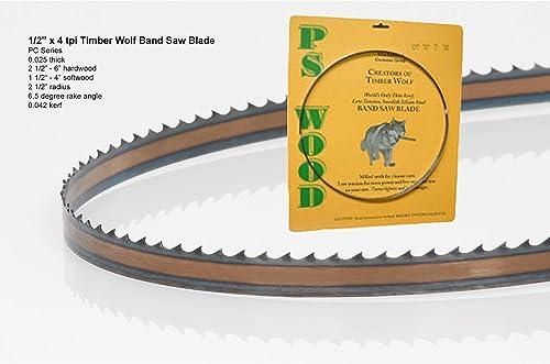 "discount Timber Wolf Bandsaw Blade outlet online sale 1/2"" x 93-1/2"", popular 4 TPI outlet sale"