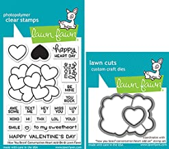 Lawn Fawn How You Bean Conversation Heart Add-On Clear Stamps and Dies Bundle LF1553..
