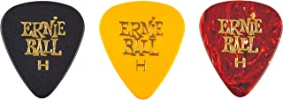 Ernie Ball P09180 12-Piece Heavy Assorted Color Cellulose Guitar Picks Bag, 0.94mm Size, 0.94 mm