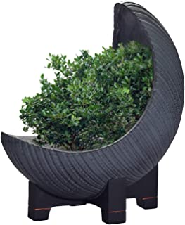 Moon Large Garden Planter, Unique Indoor and Outdoor Flowerpot, 18 Inch with Drainage