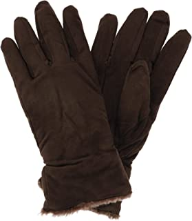 Polar Extreme Women's Suede Fleece Lined Glove with Fur Trim