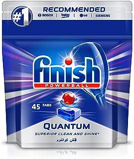 Finish Dishwasher Detergent Tablets, Quantum Max, 45 Tabs
