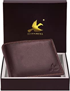 Hornbull Men's Stella Brown Genuine Leather RFID Blocking Wallet