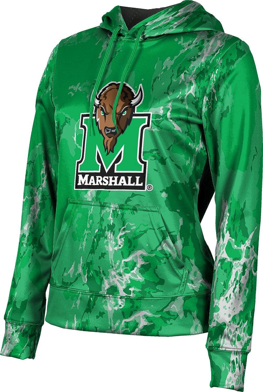 ProSphere Marshall University Girls' Pullover Hoodie, School Spirit Sweatshirt (Marble)