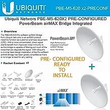 Ubiquiti PBE-M5-620 2-pack PRE-CONFIGURED Power Beam 5GHz 29dBi 620mm airMAX