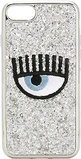 Chiara Ferragni Women's CFCIP78P031SILVER Silver Pvc Cover
