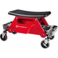 Powerbuilt Heavy Duty Rolling Mechanics Seat Brake Stool 300lb Capacity