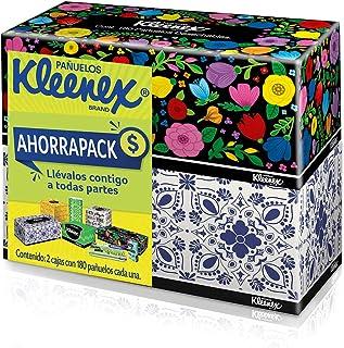 Kleenex Cottonelle Pañuelos Faciales, Paquete con 2 cajas de 180 piezas con u de doble hoja