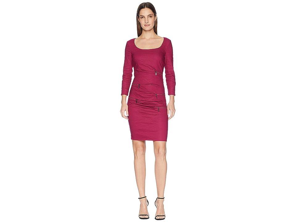 Nicole Miller Zip Dress (Mulberry) Women