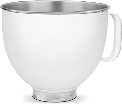 2021 KitchenAid KSM5SSBWH Custom online Stand Mixer Bowl, 5 quart, online White Painted Stainless Steel outlet online sale
