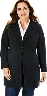 Women's Plus Size Long Two-Way Stretch Blazer
