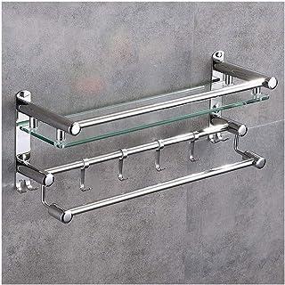 Support de salle de bains en verre Caddy de douche SUS 304 en acier inoxydable Bathromm Panier étagère de rangement suspen...