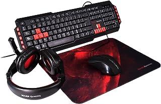 Mars Gaming, Pack RGB de Teclado, Ratón, Auriculares y Alfo