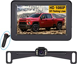 LeeKooLuu LK3 HD 1080P Backup Camera with Monitor Kit OEM Driving Hitch Rear/Front View Observation System for Cars,Trucks... photo