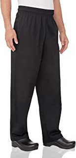 Chef Works Men's Essential Baggy Chef Pants, Black, X-Large