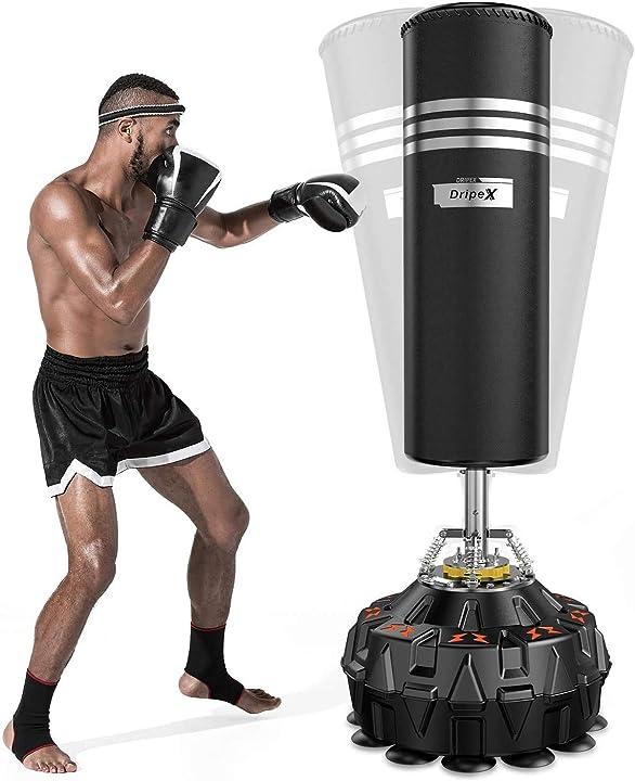 Sacco da boxe per adulti free standing dripex - (base e sacco verranno spedite separatamente) B08DKL1R73