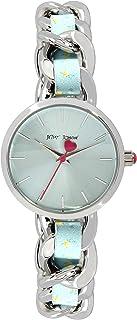 Woven Floral Link Bracelet Watch