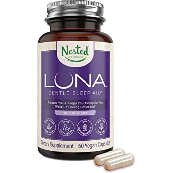 Luna   #1 Sleep Aid on Amazon   Naturally Sourced Ingredients   60 Non-Habit Forming Vegan Capsules   Herbal Supplement with Melatonin, Valerian Root, Chamomile   Sleeping Pills for Adults