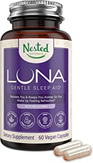 Luna | #1 Sleep Aid on Amazon | Naturally Sourced Ingredients | 60 Non-Habit Forming Vegan Capsules | Herbal Supplement wi...