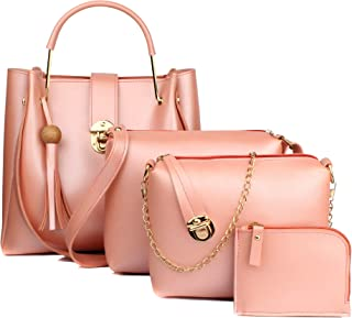 Mammon Women's Handbag (Set of 4) (4L-bib-Bpink_Pink)