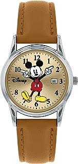 Disney Mickey Mouse MK5373 Montre analogique classique à quartz avec bracelet en cuir pour femmes