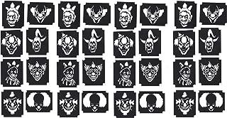 Clown Collection (Evil Clown Glitter Airbrush Stencils)