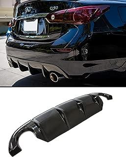 Fits for 2014-2017 Infiniti Q50 Sporty VIP Real Carbon Fiber Rear Bumper Diffuser Lip