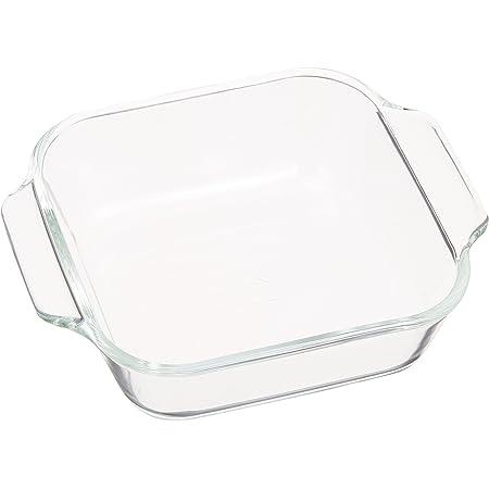 iwaki(イワキ) 耐熱ガラス オーブントースター皿 ベーシックシリーズ ハーフ 144×120×39mm 340ml KBC3840