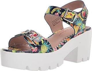 Betsey Johnson Women's Chasse Heeled Sandal, Fruit Multi, 8.5