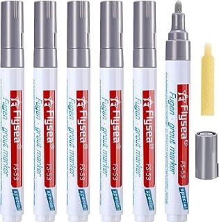 Outus 6 Pieces Grout Tile Pen Wall Grout Restorer Pen Repair Marker Grout Filler Pen for Restoring Tile Grout Wall Floor B...