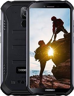 DOOGEE S40 Telefonos Moviles Libres 4G Antigolpes IP68/IP69K Impermeable 3GB+32GB 4650mAh, Android 9.0 Movil Todoterreno Dual SIM 5.5'', Cámara 8MP+5MP, NFC Huella Dactilar Desbloqueo Facial - Negro