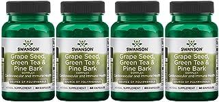Swanson Grape Seed Green Tea & Pine Bark Complex Heart Cardiovascular Immune Support Health Antioxidant Healthy Blood Pres...